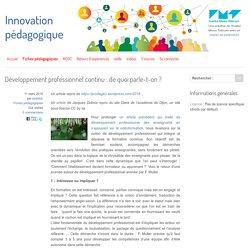Développement professionnel continu : de quoi parle-t-on ?