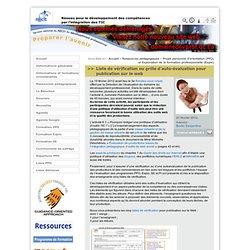 Liste de vérification ou grille d'auto-évaluation pour publication sur le web