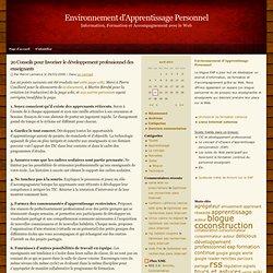 20 Conseils pour favoriser le développement professionnel des enseignants