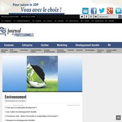 Dossier développement durable, croissance verte -