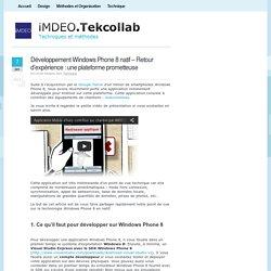 Développement Windows Phone 8 Natif