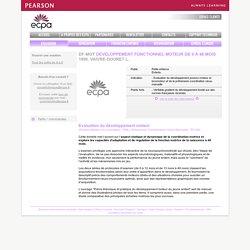Test DF-MOT DEVELOPPEMENT FONCTIONNEL MOTEUR DE 0 À 48 MOIS - Psychomotricité ergothérapie