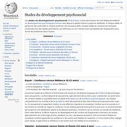 Stades du développement psychosocial