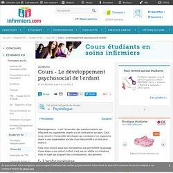 Cours - Le développement psychosocial de l'enfant