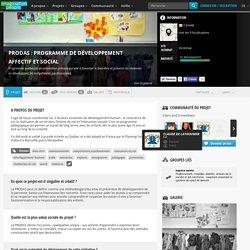 PRODAS : programme de développement affectif et social : Programme québécois de prévention précoce qui vise à favoriser le bien-être et prévenir les violences en développant les compétences psychosociales.