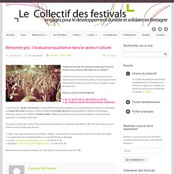 Rencontre pro : l'évaluation qualitative dans le secteur culturel