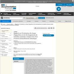 ANSES - 2005 - Rapport sur l'évaluation du risque d'apparition et de développement de maladies animales compte tenu d'un éventue