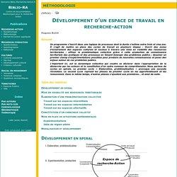 Développement d'un espace de travail en recherche-action