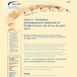 Etincelle - Cycle 2 : Formation Développement relationnel et Théâtre Forum. Du 24 au 26 août 2015