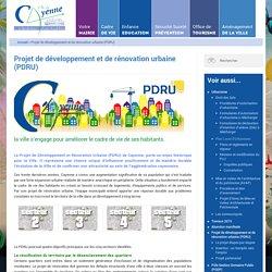 Projet de développement et de rénovation urbaine (PDRU)