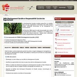 EMBA Développement Durable et Responsabilité Sociale des Organisations - Ecole de Management Strasbourg - EM Strasbourg Business School