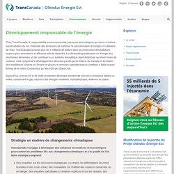 Développement responsable de l'énergie