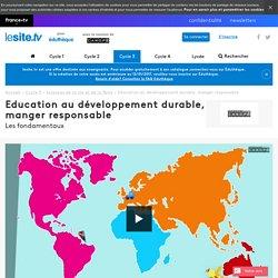 Education au développement durable, manger responsable