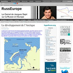 Le développement de l'Arctique