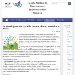 Le développement durable dans le champ sanitaire et social
