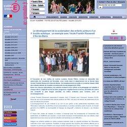Le développement de la scolarisation des enfants porteurs d'un trouble autistique : un exemple avec l'école Franklin Roosevelt d'Aix-les-Bains.