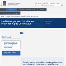 Développement durable - Des progrès encore attendus,mais des avancées significatives−Le développement durable en Provence-Alpes-Côte d'Azur