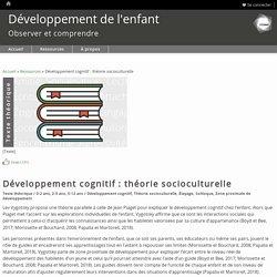 Développement cognitif : théorie socioculturelle