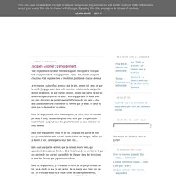 L'engagement ~ En chemin vers le bonheur : développement personnel, psychologie, bien-être, spiritualité