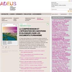 Fiches : Trame verte et bleue — Agence de développement et d'urbanisme de l'Agglomération Strasbourgeoise (ADEUS)