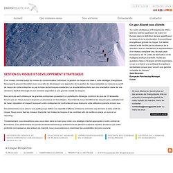 Gestion du risque et développement stratégique - EnergyQuote JHA