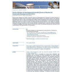 Centre d'études du développement durable (C.E.D.D.)