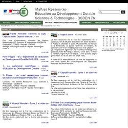Maîtres Ressources Education au Développement Durable Sciences & Technologies - DSDEN 76 - Milieux aquatiques: cours d'eau