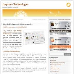 Usine de développement : étude comparative