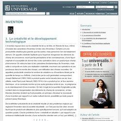 INVENTION, La créativité et le développement technologique
