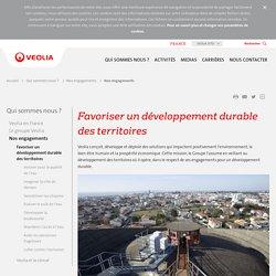 Favoriser un développement durable des territoires