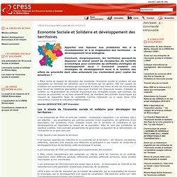 Economie Sociale et Solidaire et développement des territoires