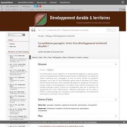 La médiation paysagère, levier d'un développement territorial durable ?