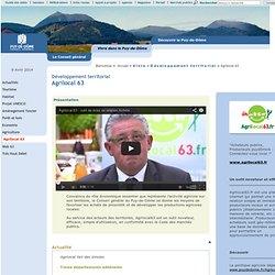 CONSEIL GENERAL PUY DE DOME - Développement territorial - Agrilocal 63