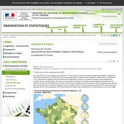 Les agendas 21 locaux [Indicateurs & Indices, Développement durable, Indicateurs de développement durable territoriaux, Bonne gouvernance]:Observation et statistiques