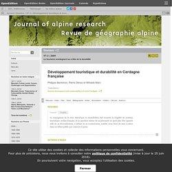 Développement touristique et durabilité en Cerdagne française