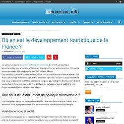 Où en est le développement touristique de la France ?