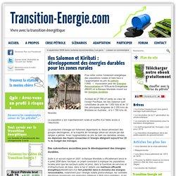 Iles Salomon et Kiribati : développement des énergies durables pour les zones rurales