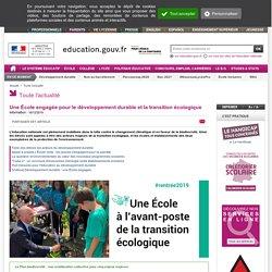 Une École engagée pour le développement durable et la transition écologique