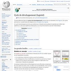Cycle de développement (logiciel)