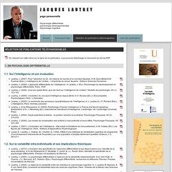 Jacques Lautrey - Psychologie développementale - Sélection de publications téléchargeables