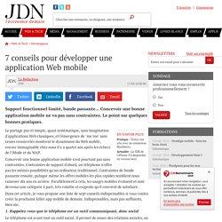 7 conseils pour développer une application Web mobile