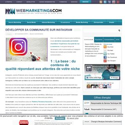 ▷ Développer sa communauté sur Instagram