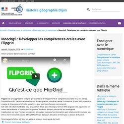 Moochg5 : Développer les compétences orales avec Flipgrid