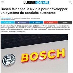 Bosch fait appel à Nvidia pour développer un système de conduite autonome