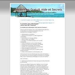 5 conseils pour développer votre sens de l'humour « Copywriting Gratuit Aide et Secrets