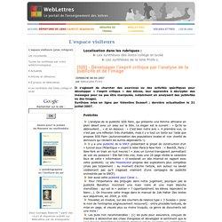 [520] - Développer l'esprit critique par l'analyse de la publicité et de l'image