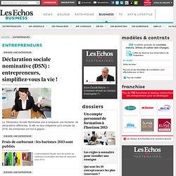 Les Echos Entrepreneur.