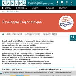 Canopé. Développer l'esprit critique