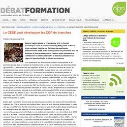 Le CESE veut développer les CQP de branches - Debat FormationDebat Formation