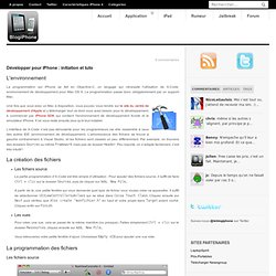 Le blog iPhone » Développer pour iPhone : initiation et tuto